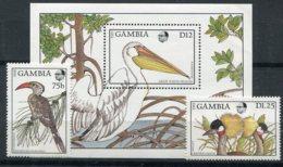 Gambie         Oiseaux      698/699 ** + Bloc 45 ** - Birds