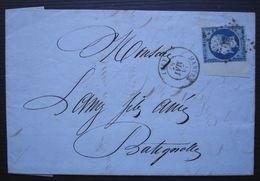 Mantes 1857 Pc 1857 Sur N°14 Grand Bord De Feuille, Jannot Dit Magnifique, Grains Graines - 1849-1876: Classic Period