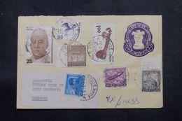 INDE - Entier Postal + Compléments Pour Le Danemark En 1976  - L 64272 - Briefe