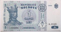 Moldavie - 5 Lei - 2009 - PICK 9f - NEUF - Moldavie