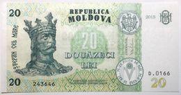 Moldavie - 20 Lei - 2015 - PICK 23a - NEUF - Moldavie