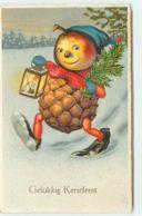 N°15474 - Gelukkig Kerstfeest - Bonhomme En Pomme De Pin - Surréalisme - Natale