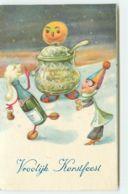 N°15477 - Vroolijk Kerstfeest - Homme En Bouteille De Champagne - Surréalisme - Natale