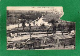 80  FRISE.l'écluse D'en Bas Après La Guerre CPA Année 1924 Trés Moyen Carte Timbre Arraché Vendue Petit Prix Départ - Autres Communes