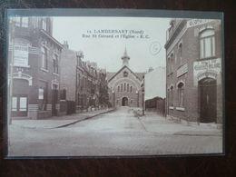LAMBERSART- CANTELEU  La Rue Gérard Et L'église - Lambersart