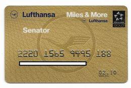 Lufthansa, Senator, Rewards Card, # Airlines-4 - Credit Cards (Exp. Date Min. 10 Years)