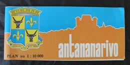 Grande Carte De Tananarive/Antananarivo Madagascar1977 - Cartes Géographiques