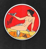 DESSOUS DE BOC  ?  DEESSE  GREC FEMME  NUE En Céramique Ou Médaille  à Identifier  BIKTOP   1980 - Autres