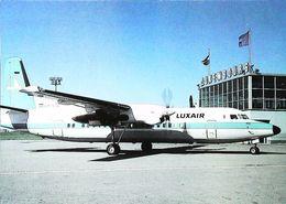 AEROPORT LUXEMBOURG  - Fokker F-50  (LX-LGL)  - LUXAIR    (Avion Aircraft Flugzeug) - Luxembourg - Ville