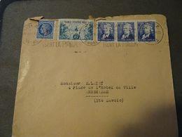 LYON 1951 Lettre Pour ANNEMASSE - France