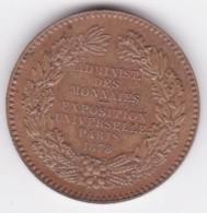 Jeton Exposition Universelle De PARIS 1878 – Administration Des Monnaies Par Barre - Professionali / Di Società