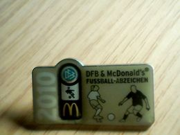Badge DFB Mc. Donalds 2010 Fusball -Adzeichen - McDonald's