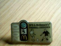 Badges DFB Mc. Donalds 2010 Fusball -Adzeichen - McDonald's