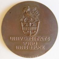 Autriche Medaille Universitats Bund Innsbruck 1950 - Professionnels / De Société