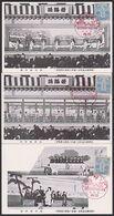 Nippon Japan 3 Karten Theater Mit Rotem Sonderstempel Und Franakatur - Giappone