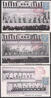 Nippon Japan 3 Karten Theater Mit Rotem Sonderstempel Und Frankatur, Unwritten - Giappone