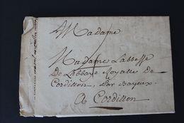 1773 , LAC DATEE DU 08 /AOUT 1773 DE SAVOIE? POUR L ABBAYE ROYALE DE CORDILLON PAR BAYEUX TAXE MANUSCRITE 4 DECIMES - Marcophilie (Lettres)