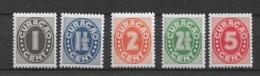 1942 MNH Curacao NVPH 153-7  Postfris** - Niederländische Antillen, Curaçao, Aruba
