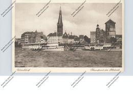 BINNENSCHIFFE - RHEIN, Köln-Düsseldorfer Schaufelraddampfer Am Düsseldorfer Anleger - Paquebots