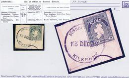 Ireland Kilkenny 1929 Rubber Climax Dater BONNETTSTOWN KILKENNY 13 DEC.29 On 2d Map - Irlande