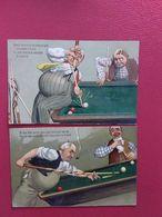 HUMOUR -BILLARD -CARTES RELIEF - Humour