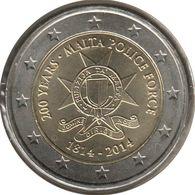 MA20014.2 - MALTE - 2 Euros Commémo. 200 Ans Des Forces De Police - 2014 - Malta