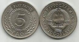 Yugoslavia 5 Dinara 1970.  FAO Fiat Panis KM#56 High Grade - Yugoslavia
