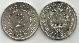 Yugoslavia 2 Dinara 1970.  FAO Fiat Panis  KM#55 - Yugoslavia