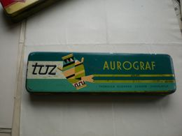 Old Tin Box Tuz Aurograf Tvornica Olovaka Zagreb Jugoslavija - Cajas/Cofres