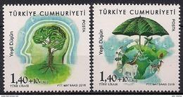 "2016 Türkei Mi. 4260-1 **MNH  Europa  "" Think Green "" - 2016"