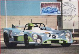 Matra Simca Carte Premier Jour 50ème Anniversaire Des 24 Heures Du Le Mans  2-6-1973 Sports Car Race Endurance Racing - Cartes-Maximum