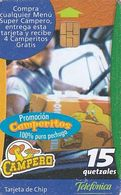 GUATEMALA - Pollo Campero 1, Telefonica Telecard Q15, Used - Guatemala