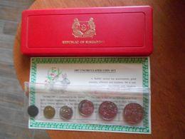 SINGAPORE 1987   -  MINT  SET  -  UNC - ORIGINAL  RARE   BOX - Singapore