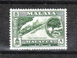 Malacca  Malaya - 1960. Treno. East Coast Railway. Fresh MNH - Treni