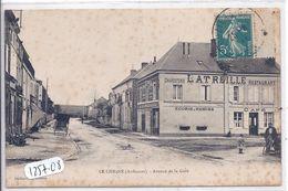 LE CHESNE- AVENUE DE LA GARE- MAISON LATREILLE- CHARCUTERIE- CAFE-RESTAURANT - Le Chesne