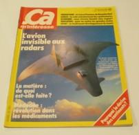 Revue ÇA M'INTÉRESSE N°15 (05/1982) : L'Avion Invisible Aux Radars - Science