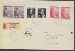 Böhmen Und Mähren # 131, 126-7 (je 2x) Heydrich 29.5.43 Einschreibebrief Slatinian - Storia Postale