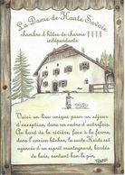 """Carte Pub Chambre D'hôtes """" La Dame De Haute Savoie """", LA ROCHE Sur FORON (74) - Advertising"""