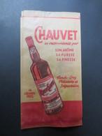 Sac En Papier Alimentaire Publicitaire - Rhum Chauvet - B.E - Alcools