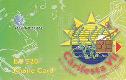 ST.KITTS & NEVIS - Carifesta VII, Chip GEM6, Used - Costa Rica