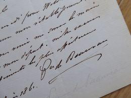 PRINCE Charles Craon DE BEAUVAU (1793-1864) Officier EMPIRE Napoleon Russie. Senateur. AUTOGRAPHE - Autographs