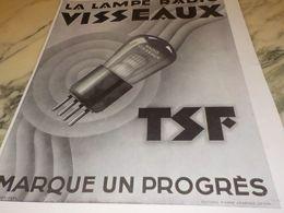 ANCIENNE PUBLICITE    LAMPE RADIO  VISSEAUX  1928 - Radio & TSF