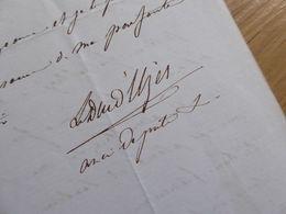 DUC D'UZES Armand De CRUSSOL (1808-1872) Député GARD, Haute Marne (BOURBONNE) - Autographe - Autografi