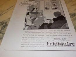 ANCIENNE PUBLICITE CROISSANCE DE VOS ENFANTS  FRIGIDAIRE  1928 - Sciences & Technique