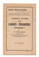 Ecole Universelle Par Correspondance De Paris Comment étudier Les Langues étrangères Vivantes ? Par F. Psalmon - Libros, Revistas, Cómics