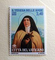VATICAN 2020 SANTA TERESA DELLE ANDE, MNH** - Vatican