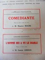 COMEDIANTE, De M. Magre Et L'HOMME QUI A VU LE DIABLE,de G. Leroux (:L'illustration Théâtrale,1912); Dessin E. L; Cousyn - Theatre
