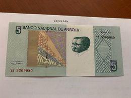 Angola 5 Kwanzas Uncirc. Banknote 2012 - Angola