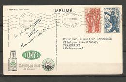 282ET 288carte Du Docteur  IONYL  (clasverA34) - Cameroun (1915-1959)