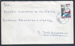 Carta Circulada De Caxias Em 1963 Com Stamp Dos 50 Anos Da GNR- Guarda Nacional Republicana. - 1910-... République